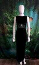 Milano Womens Green Velvet Dress Maxi (E)