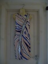 EMILIO PUCCI PATTERNED DRESS  SIZE UK 12 IN  GOOD CONDITION