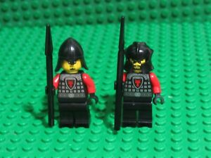 Lot of 2 Red Black Dragon Knight Kingdoms 70404 Castle Lego minifigs RK78