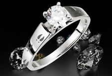 Deer Track Engraved Engagement Ring Animal Print Track Solitaire Women's Ring