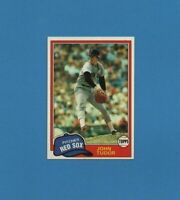 1981 Topps John Tudor Baseball Card #14 - Boston Red Sox