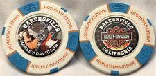 Bakersfield Harley-Davidson® Bakersfield, CA Collector Poker Chip White/Lt. Blue
