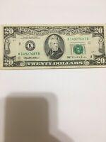 *.1995 $20  U.S. FRN vintage style** S#K14927687B  (Dallas ) Note