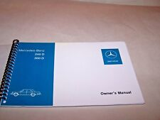 1976 Mercedes 300d 240d Owners Manual Parts Service w115 reprint new