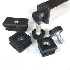 Dia 20mm M8x18mm Adjustable Feet & Threaded Tube Insert Sets For Square Tubes