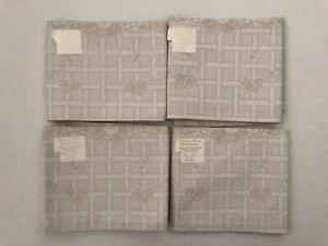 Le Jacquard Francais Primrose Bordier Cotton Napkins Beige Set Of 4