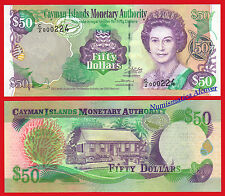 ISOLE CAYMAN CAYMAN 50 Dollars dollari 2002 2003 Pick 32b SC / UNC