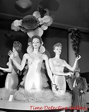 Christmas Corset Display, Macys, New York City, NY - 1942 - Historic Photo Print