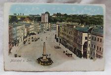 AK  Mühldorf am Inn Stadtplatz Litho gel. 1912