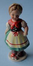 CORTENDORF STRUNZ GIRL BAVARIAN COSTUME Young Little Children Ceramic FIGURINE