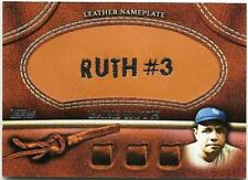 BABE RUTH 2011 TOPPS PATCH LEATHER NAMEPLATE NY YANKEES BLUE HAT NICE