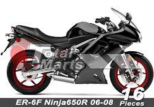 Fairing For Kawasaki ER-6F Ninja 650R 06 07 08 2006 2007 2008 ABS Black fc8616