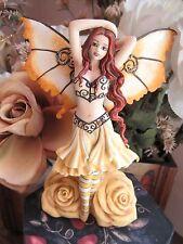 Amy Brown  AZALEA ROSE Fairy Figurine by MUNRO of Faerie Glen FREE NECKLACE!