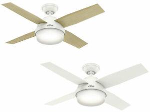 "Indoor ceiling fan light with remote 112 cm 44"" Hunter DANTE White & Oak"