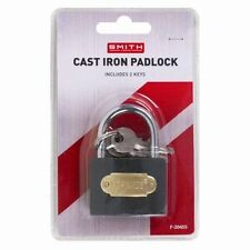 40mm Heavy Duty Cast Iron Padlock Outdoor Safety Security Shackle With 2 Keys DW