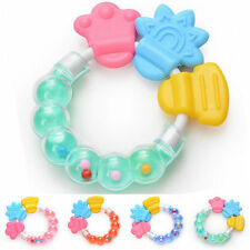 Healthy Baby Kids Rattles Biting Teething Teether Balls Toys Circle Ring FA