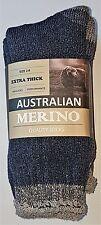 3 PRS LADIES SZ  2-8 DENIM AUSTRALIAN MERINO THERMAL CUSHION FOOT WORK SOX