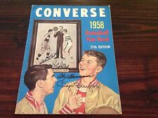 1958 Converse Basketball Yearbook 37th edition Signed Baylor, Hagan, Petit ...
