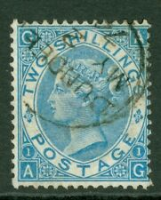 SG 118 2/- dull blue. Very fine used with a Dundee CDS, May 2nd 1874 CAT £275...