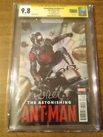 CGC SS 9.8 Astonishing Ant-Man #11 Movie Photo Variant signed Paul Rudd