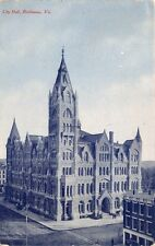 Richmond Virginia City Hall~Tom Jones Published Postcard 1910s