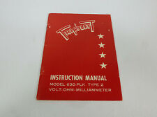 Triplett Instruction Manual for Model 630-PLK Type 2 Volt-Ohm-Milliammeter