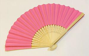 2 pc/lot Pain Colorful Paper folding Fan Bamboo Handheld Plain Fans
