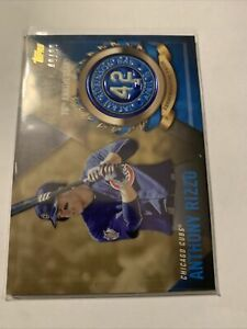 🔥Anthony Rizzo 2017 Jackie Robinson Logo Patch Card🔥 /99 Rare