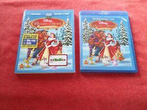 BEAUTY AND THE BEAST: ENCHANTED CHRISTMAS - (BLU RAY & DVD, 2011) + SLIPCOVER