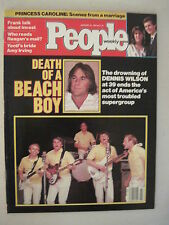 People Magazine January 1984. Beach Boys- Dennis Wilson Dies! Rod Stewart!