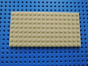Lego 1 x Platte Bauplatte flach 92438 beige tan   8x16   beidseitig bebaubar