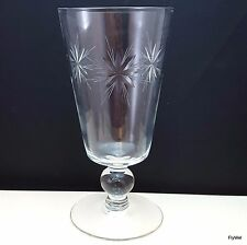 Sevron Starfire Iced Tea Glass Clear Star Cut 12 oz Beverage 6.5""