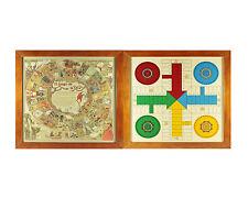 Tablero madera Parchís-Oca Clásico, con marco. Edición especial. Piezas madera