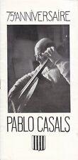 Concert Programme Prospectus 1952 Pablo Casals Prades Festival