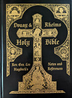 Douay-Rheims Haydock Bible NEW Deluxe Rare Black Leather Traditional Catholic