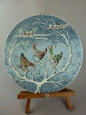 Collector Plate / Three French Hens / Christmas Noel / Haviland Limoges / 1972
