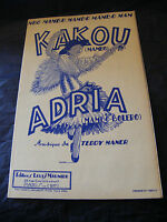 Partitura Kakou Adria Teddy Maner Music Sheet