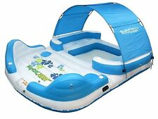 Canopy Floating Island 6 Person Capacity Inflatable Floating Raft Lounge Shade