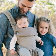 Baby Infant Safety Ergo Carrier 360 Four Position Breathable Lap Strap gray