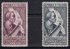 1954 ITALIA 5 Cent Nascita Amerigo Vespucci  MNH ** L25 + 60 Perfetti  Ss 749-50