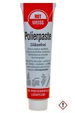 1 Stück Rotweiss Polierpaste 100ml Auto Politur Lack polieren KFZ Pflege Paste