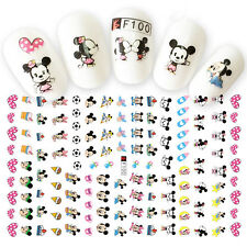 100 Assorted Disney Mickey Mouse Decals 3D Nail Art Stickers for Nail Polish New