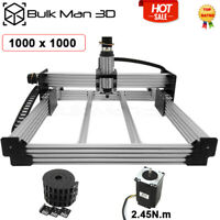 1000*1000mm 4Axis WorkBee CNC Router Engraver Machine Kit + Drag Cable Chain Kit