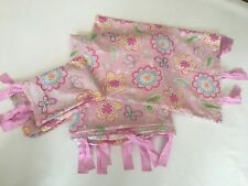 Pottery Barn Kids Floral Garden Butterfly Paisley Pink Twin Duvet and 2 shams