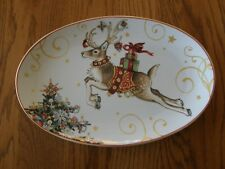 Williams Sonoma 'Twas the Night Before Christmas Small Oval Reindeer Platter-New