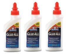 3~New Elmers Glue All 4oz. Nonflammable Dries Clear High Strength Adhesive E3810