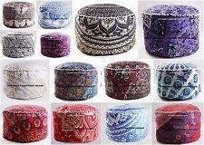 10 PC Wholesale Lot Mandala Pouf Ottoman Indian Pouf Cover Foot Stool Bean Bag