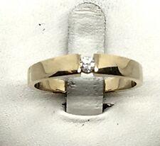 Christ Ring Solitär mit Brillant 0,08 ct. 14K 585er Gelbgold Gr: 57 sehr hübsch