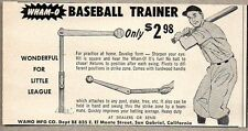 1954 Print Ad Wham-O Baseball Trainer WAMO Mfg San Gabriel,CA