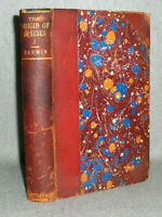 Antique Science Book Darwin The Origin of the Species Vol 1 Leather 6th Ed. 1896